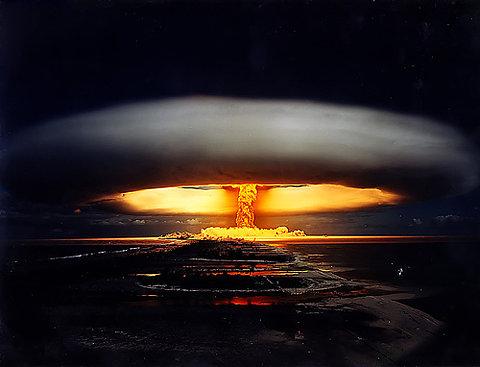 Atomic bomb, explosion,