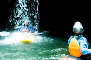 Ross Henry face shot kayak in Washington